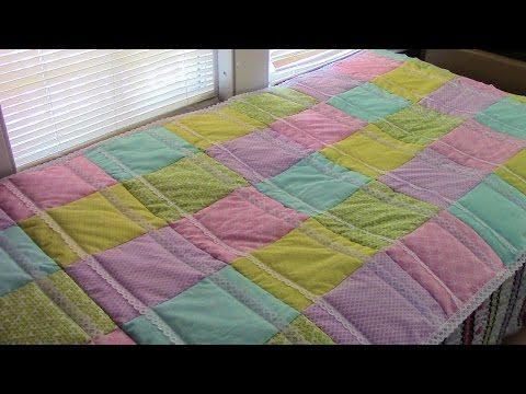 How To Quilt As You Go By Row Qayg Rag Quilt With Lace