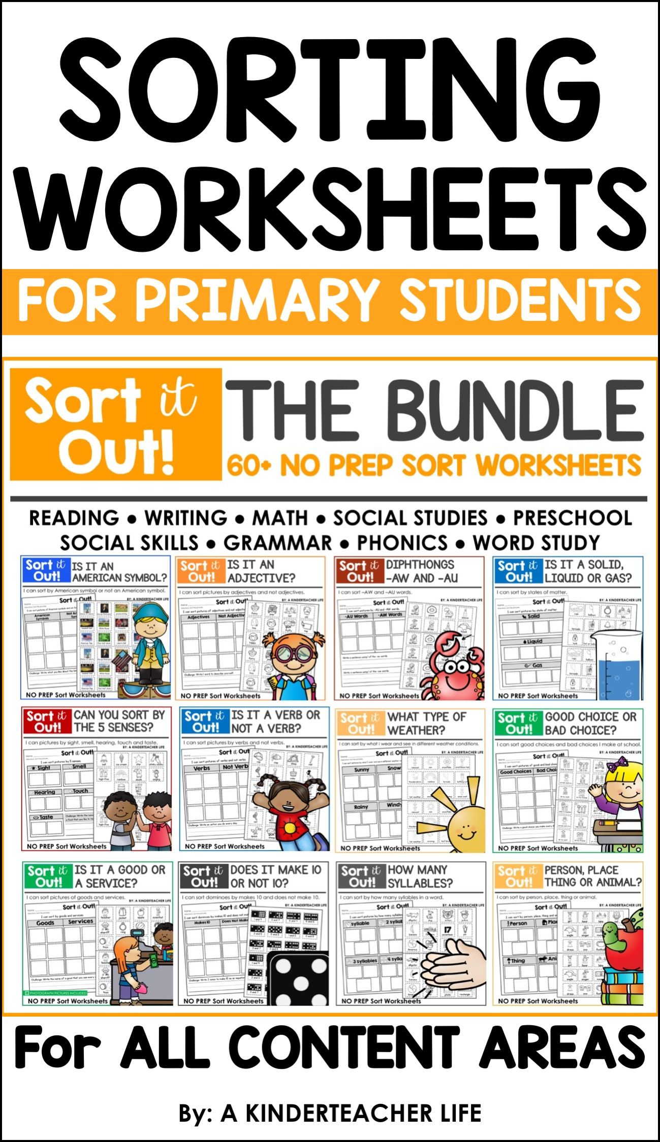 Sort Worksheets Bundle