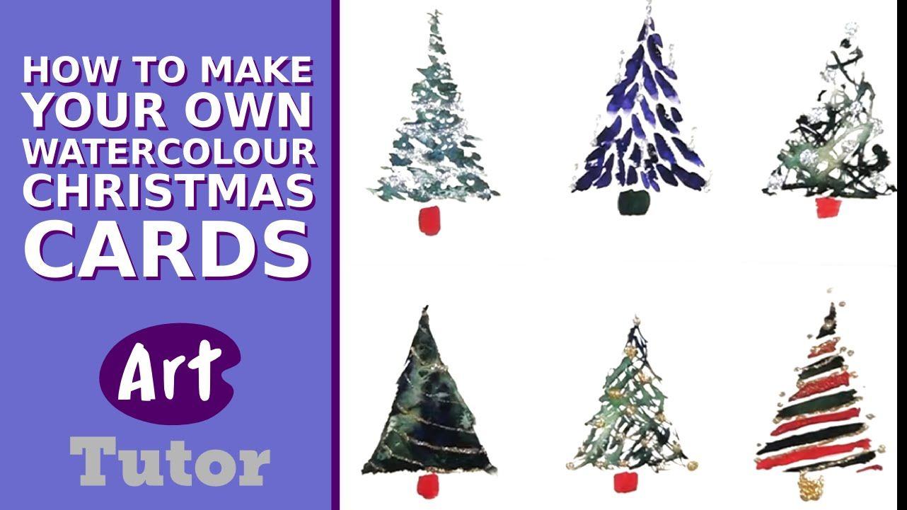 Making Your Own Christmas Cards Ideas Part - 26: Make Your Own Watercolor Christmas Cards. Tutorial By Sian Dudley (this Is  The Birds