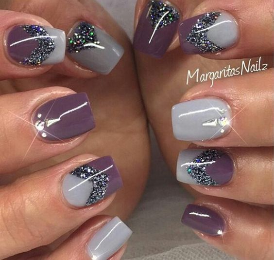 49 Short Square Round Acrylic Nail Designs | Rounded acrylic nails, Acrylic nail  designs and Almonds - 49 Short Square Round Acrylic Nail Designs Rounded Acrylic Nails