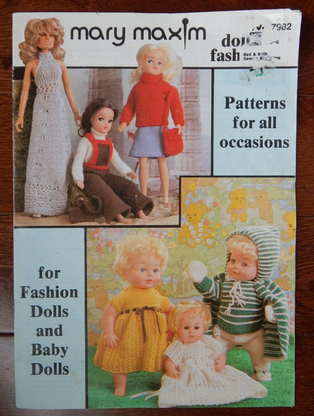 10-20   Inch Doll Vintage Patons  Doll Knitting Pattern