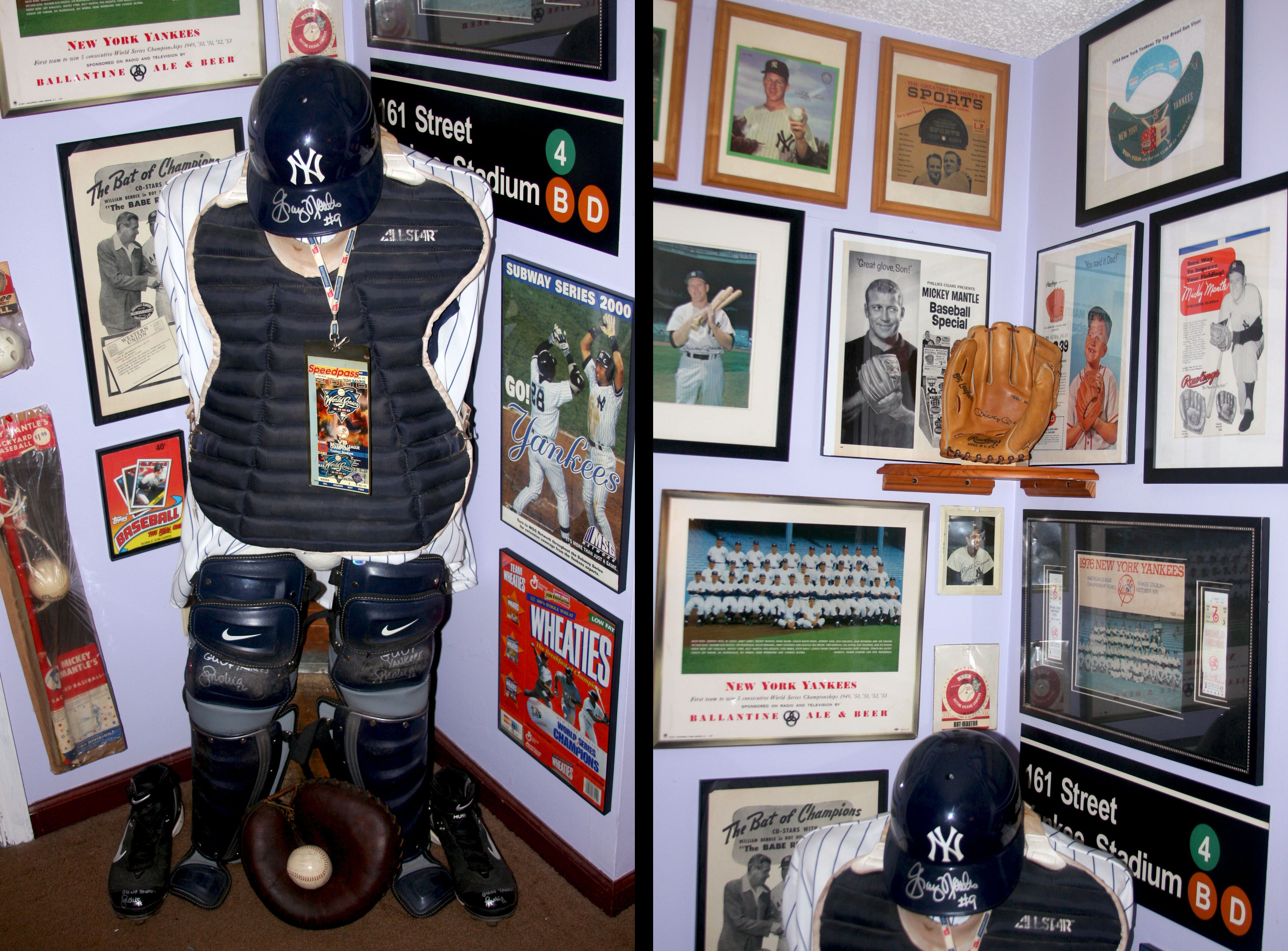 Welcome To Keymans Yankee And Mickey Mantle Baseball Memorabilia Collectors Showcase Display Room