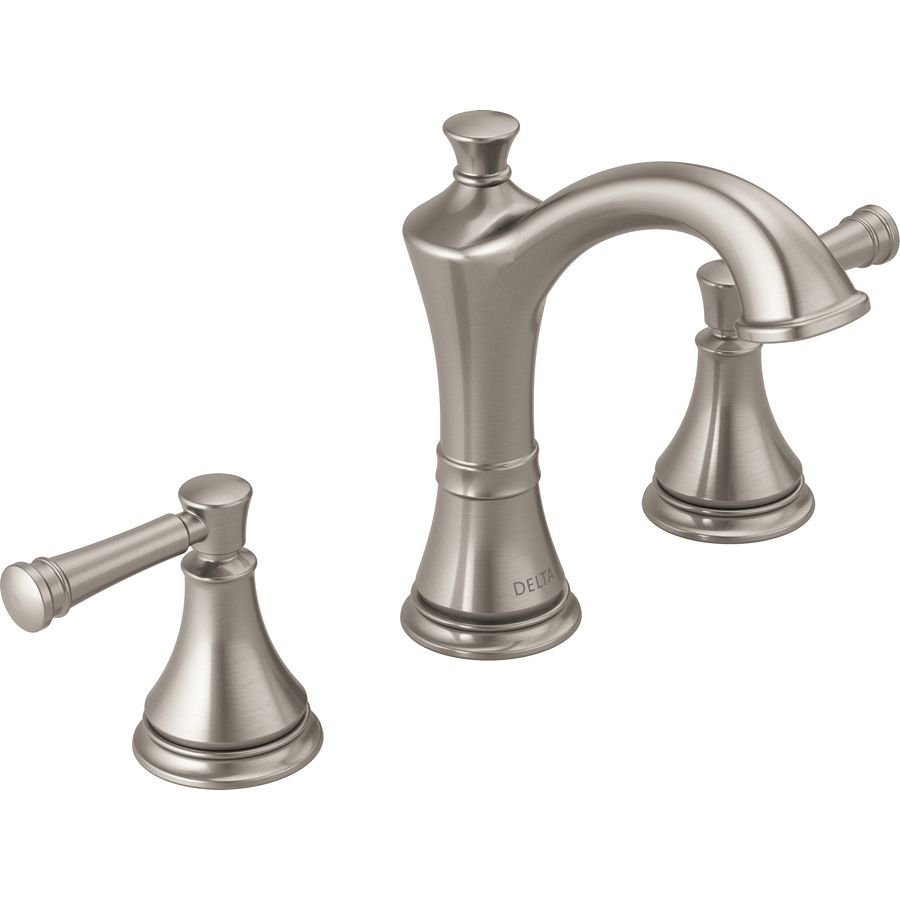 delta valdosta spotshield brushed nickel 2-handle widespread