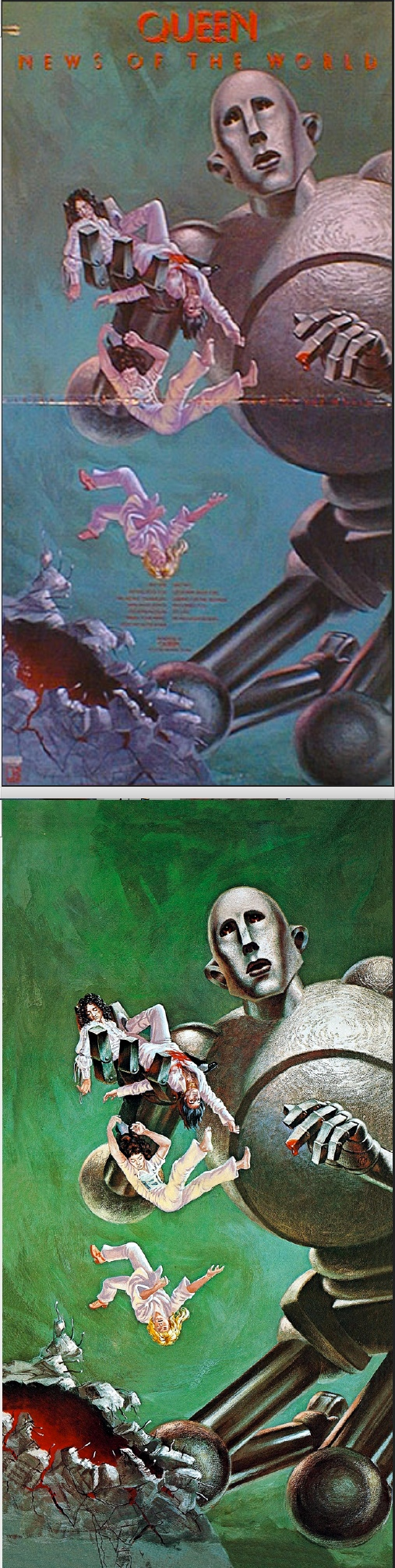 Frank Kelly Freas Queen News Of The World 1977 Electra Records Cover By First Draft Com Print By Fimfiction Net Art Artist Inspiration Fantasy Art