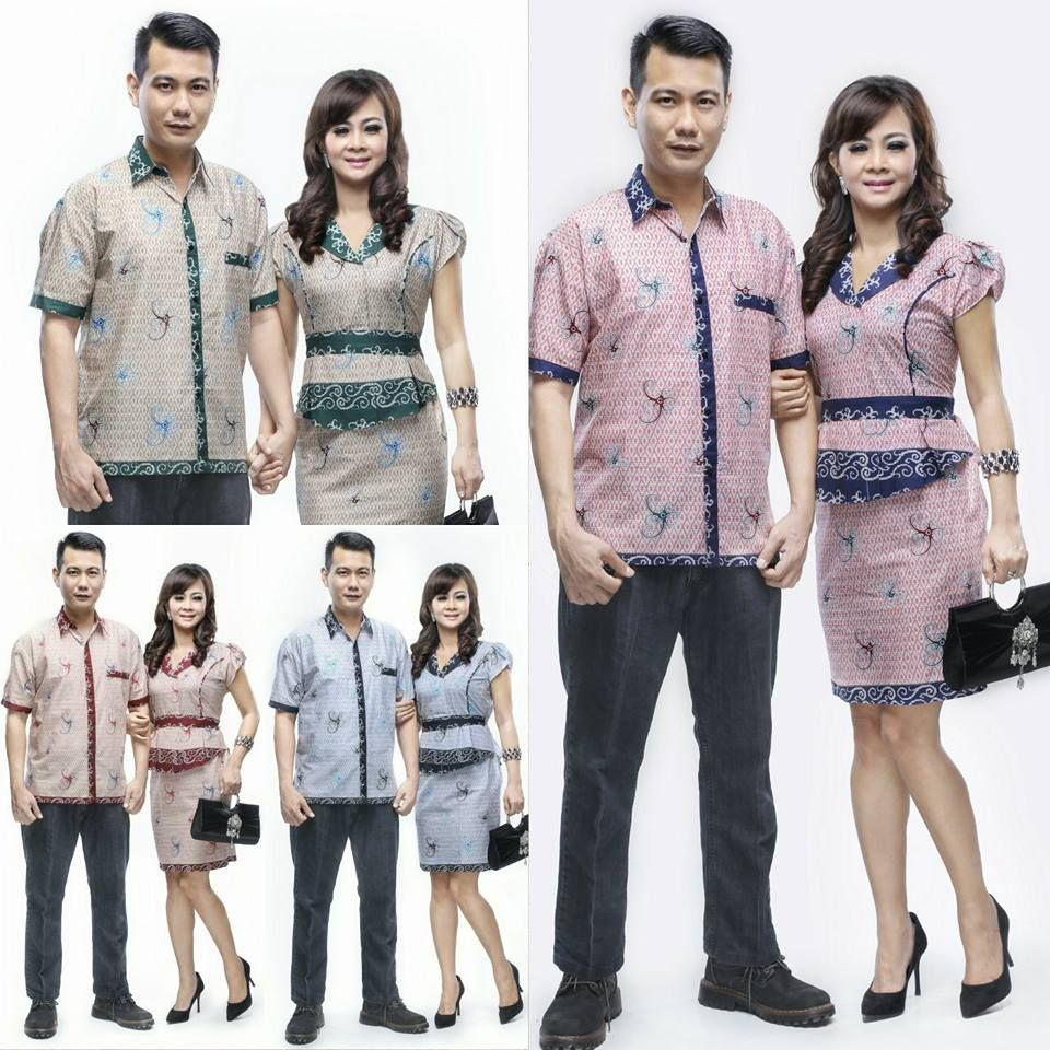 Model Baju Batik Couple Sarimbit Motif Melina Cumi Call Order Whatsapp Text Only
