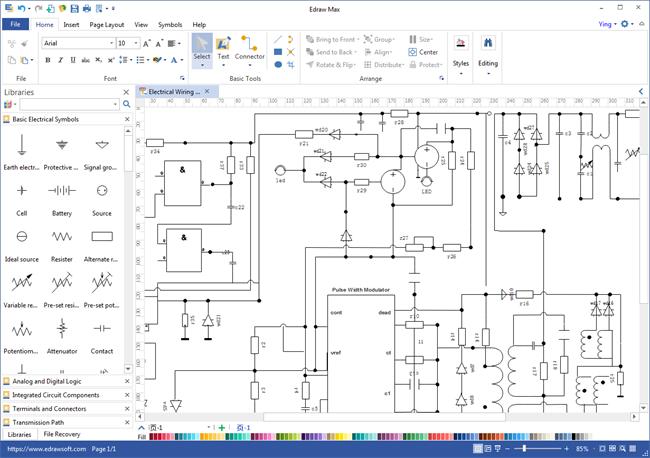 schematics maker  circuit diagram circuit schematic design