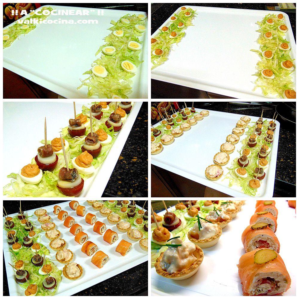 Ideas de aperitivos exprés para celebraciones o visitas inesperadas. Muy fáciles, ricos y vistosos.
