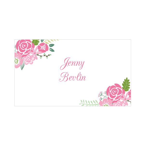 Floral Printable Place Cards In 4 Colors Printable Place Cards Printable Place Cards Templates Floral Printables