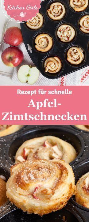 Habt ihr schon mal Apfel-Zimtschnecken in der Muffinform gemacht? Solltet ihr unbedingt probieren! Wir haben das Rezept für euch. #dessertideeën