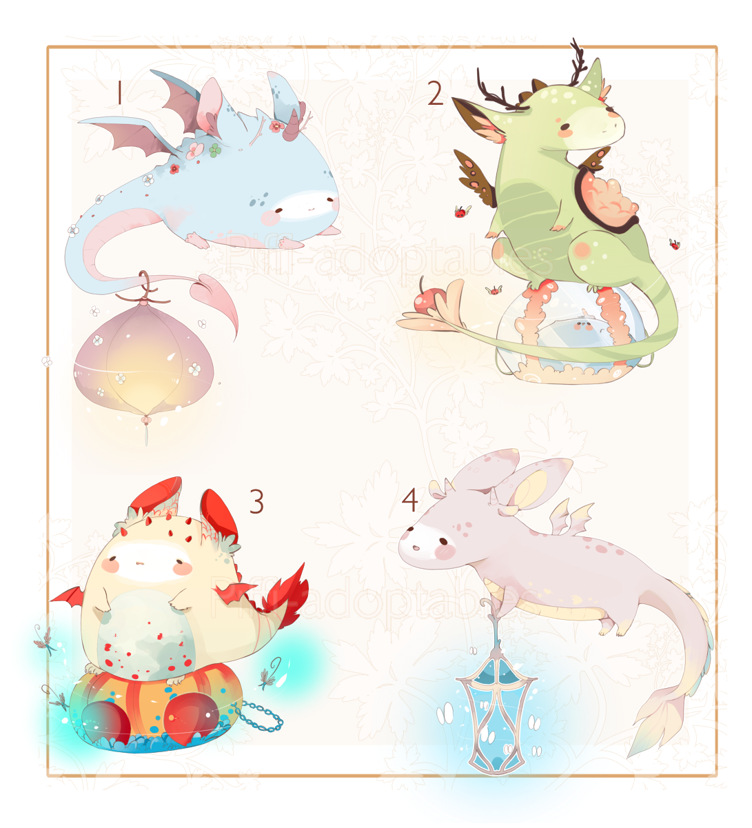 CLOSED] ADOPT AUCTION 90 - Little Dragon Pet by Piffi