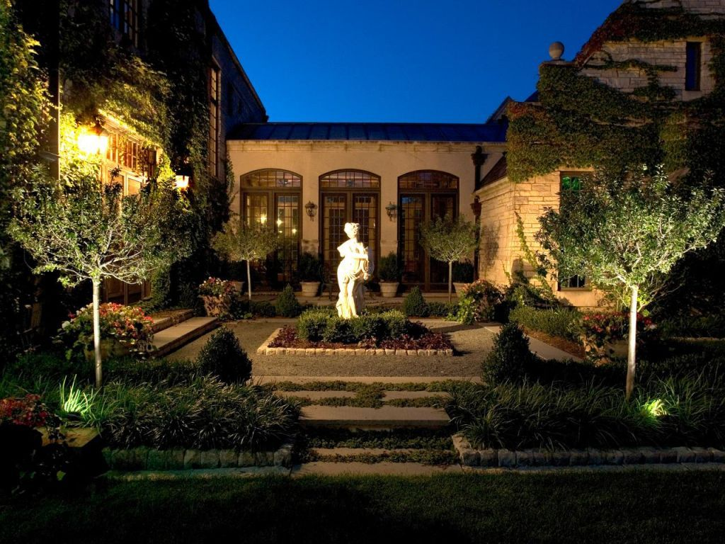 Garden landscape night   Unusual Buildings  Small space decorating Small spaces and