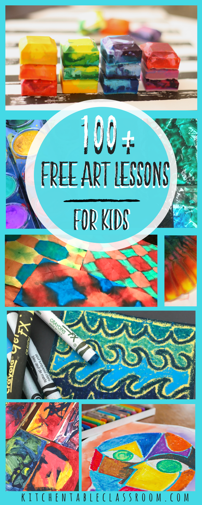 Over one hundred free detailed art lessons including printmaking ...