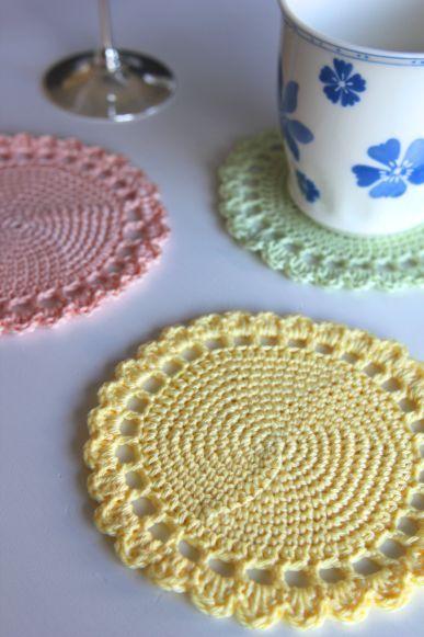 Pastellfarbene Untersetzer Für Gläser Und Tassen Häkeln Mehr Infos