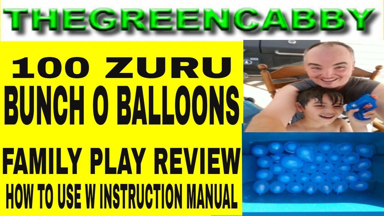 Zuru Bunch O Balloons Family Play How To Use Instructions 100 Buncho Balloons Review Bunch O Zuru Bunch O Balloon Play Review Investment Accounts Instruction