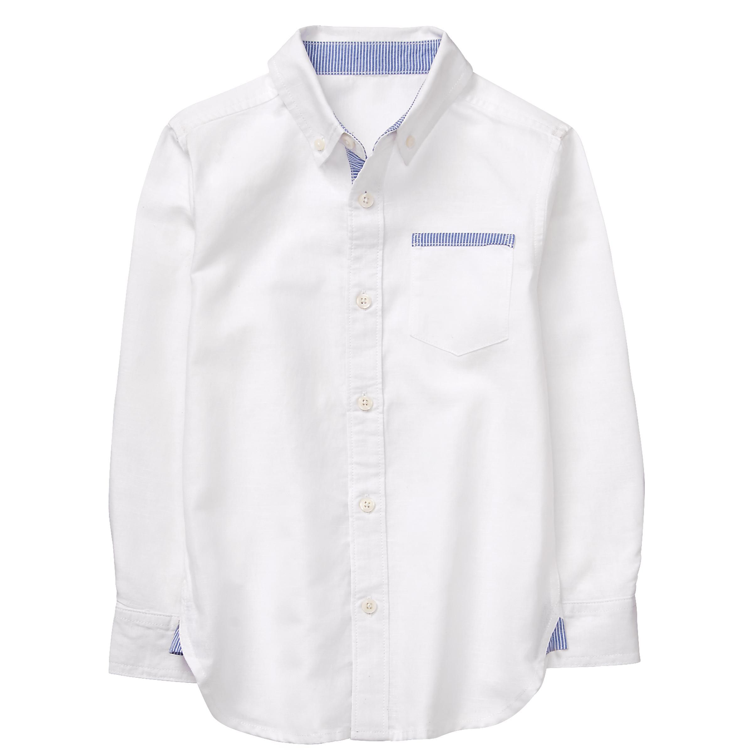 Boy White Linen Shirt by Gymboree (With images) Boys
