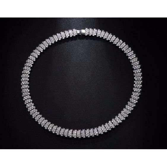 Grace Long Necklace White Gold Plated Luxury