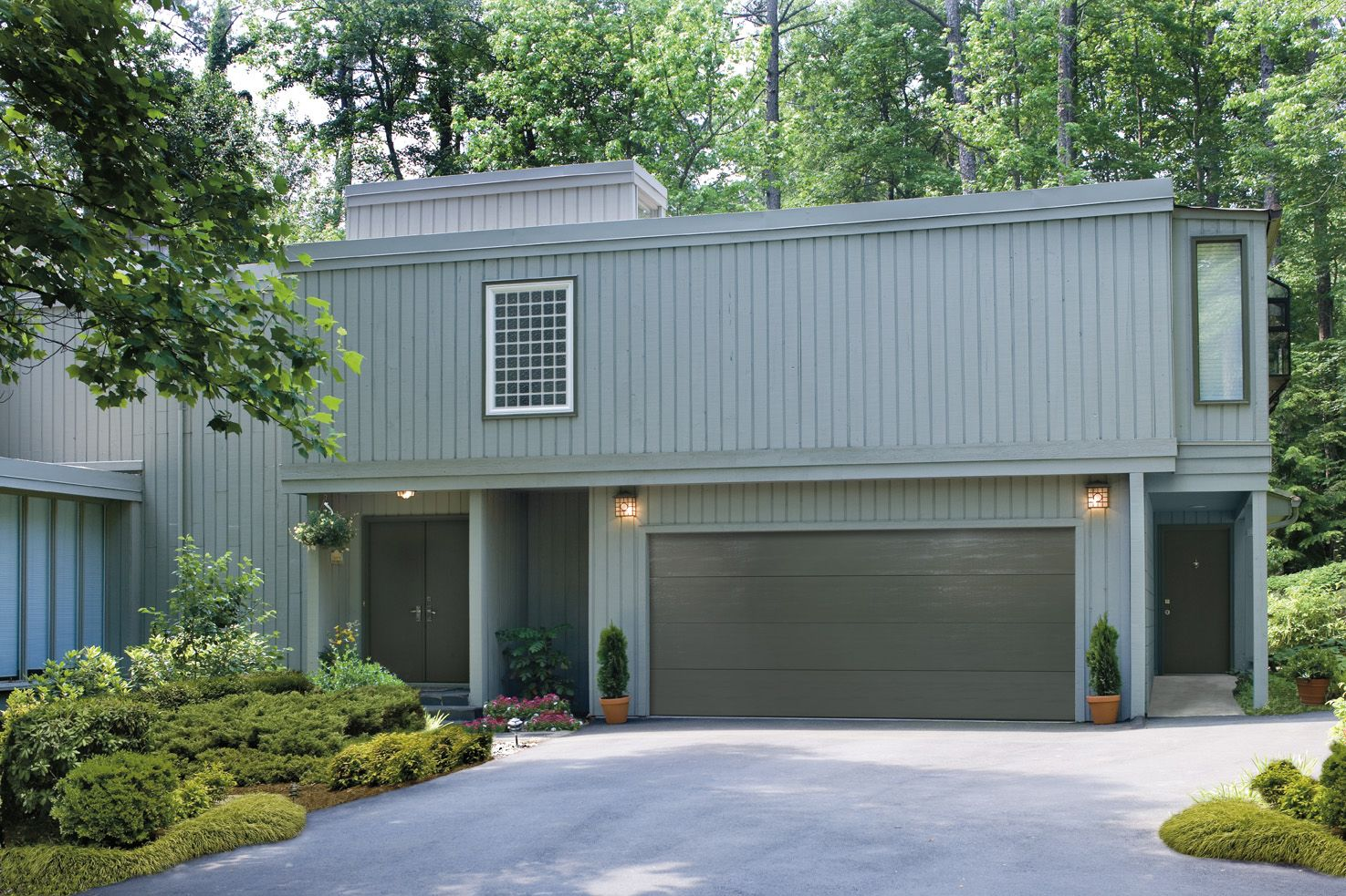Pin By Precision Door On Amarr Residential Contemporary Garage Doors Garage Doors Best Garage Doors