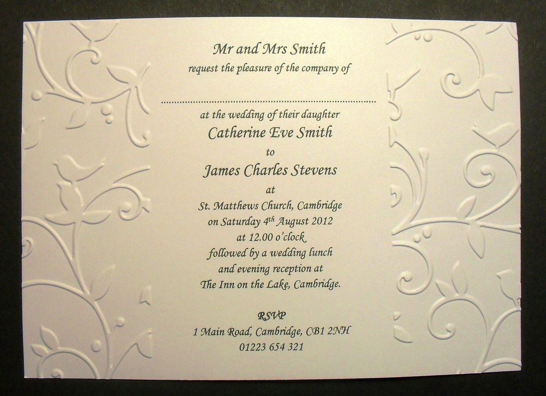 Wedding Invitation Samples Uk: Quality Handmade Wedding Invitations At An Affordable