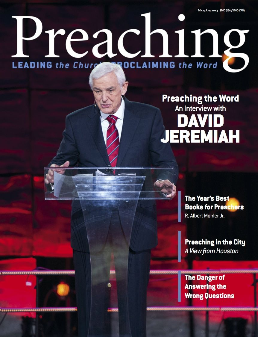 Dr david jeremiah on the front cover of preaching