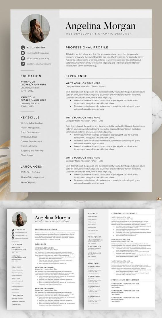 Pin On Resume Template Word