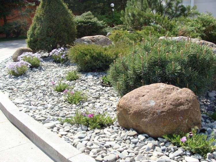 jardin de rocaille et d co en pierre naturelle en 40 id es. Black Bedroom Furniture Sets. Home Design Ideas