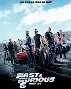 Fast and Furious 6 movie poster - number seven coming soon!