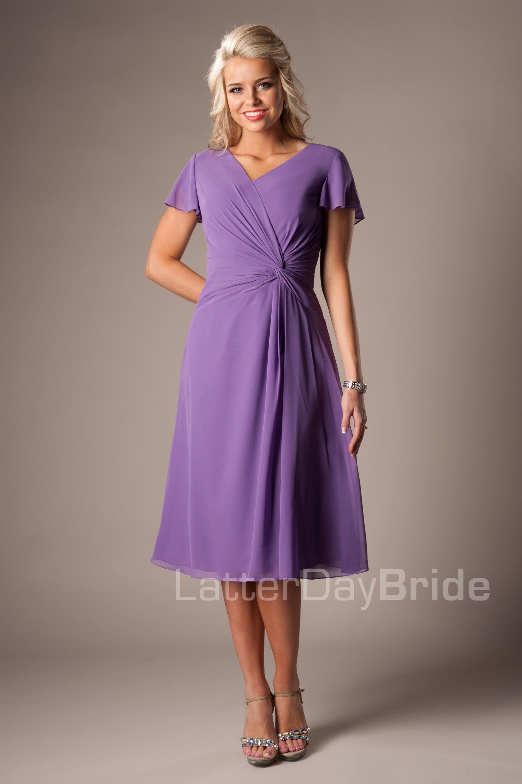 Modest Bridesmaid Dresses : Denise | wedding | Pinterest | Vestiditos