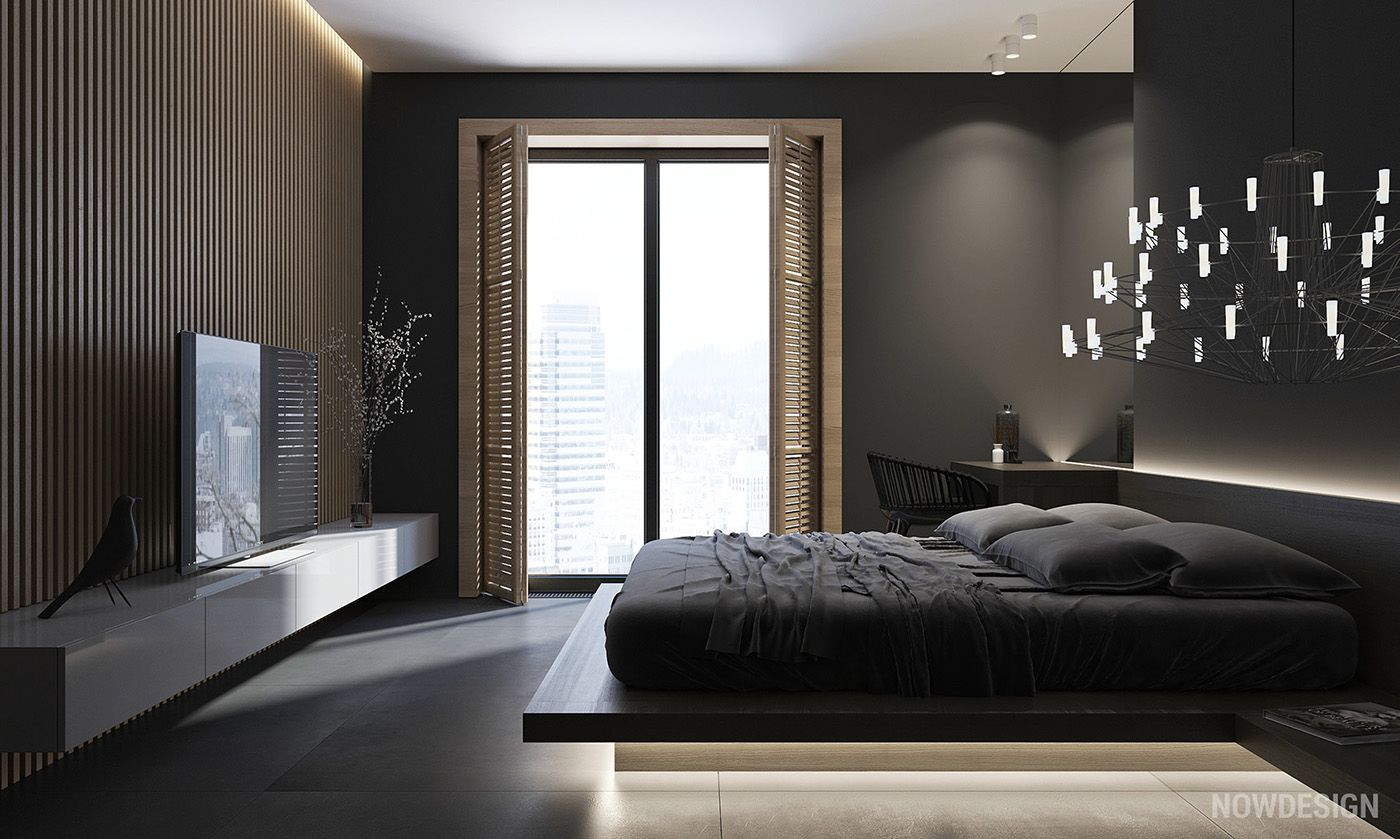 Best 4 Gorgeous Homes With Matte Black Walls Bedroom Designs 640 x 480