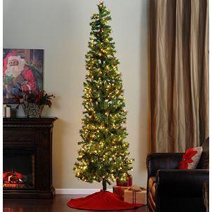 9 ft slim christmas tree with white lights