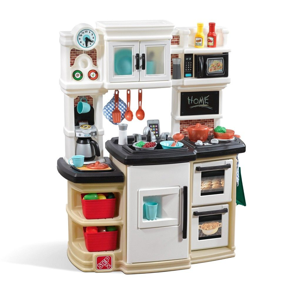 Step2 Great Gourmet Kitchen Kids Play Kitchen Wooden Play Food