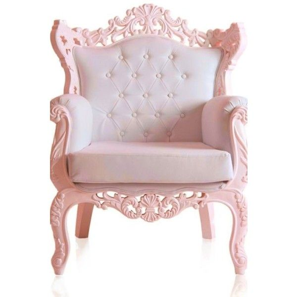 Pale Pink Accent Chair ❤ Liked On Polyvore Featuring Home, Furniture, Chairs,  Accent