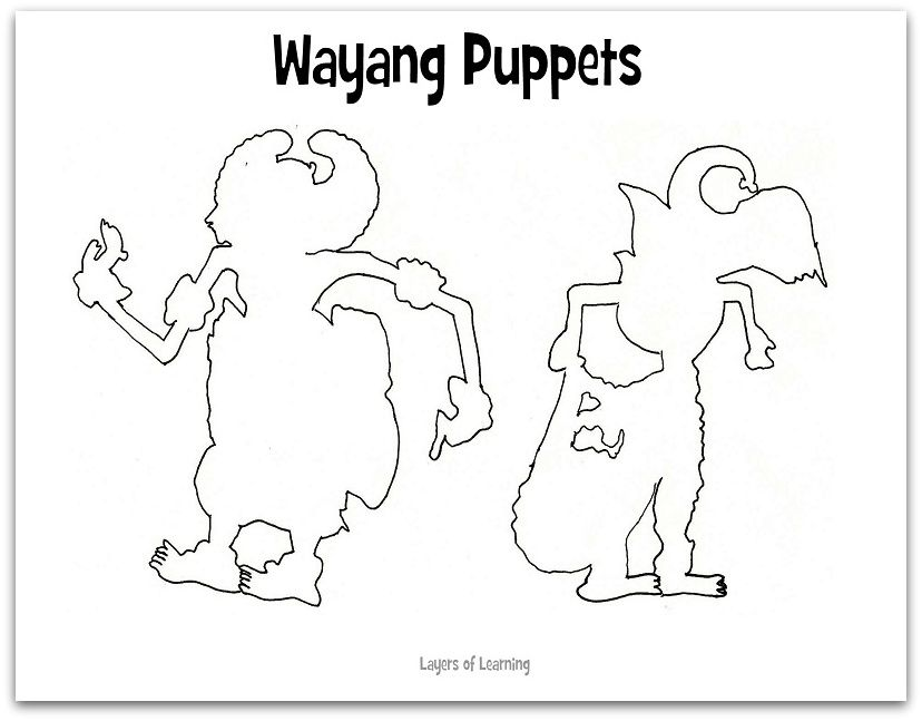 Make Your Own Indonesian Wayang Puppets Layers Of Learning Indonesian Art Puppets Puppets For Kids