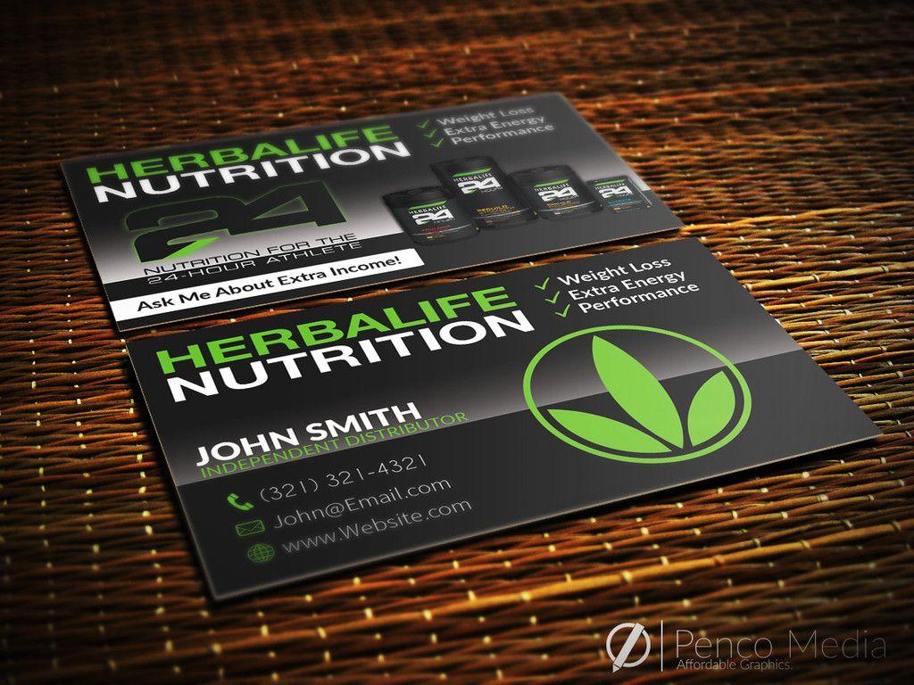 Custom Herbalife Business Card Design 1 Herbalife With Images