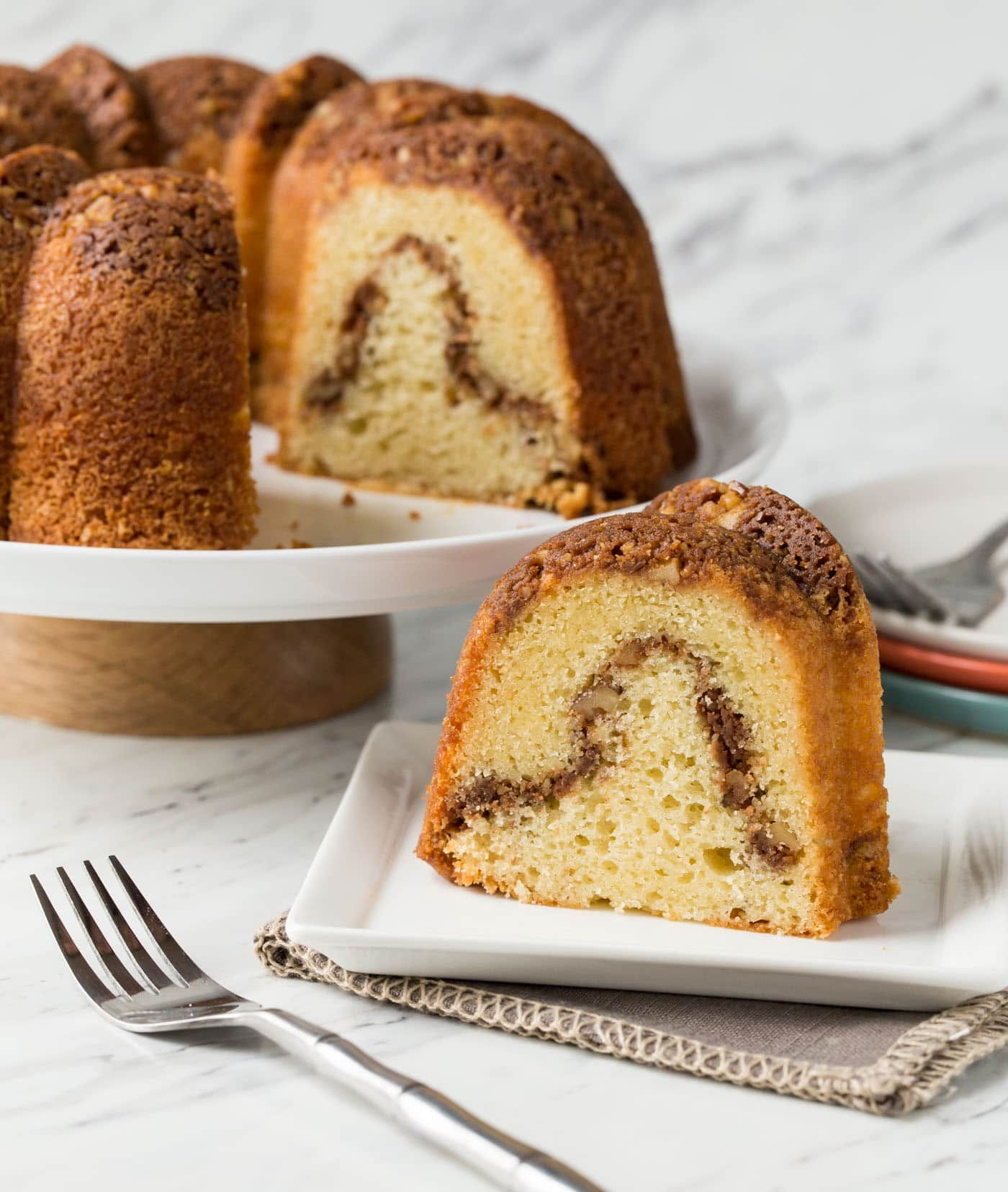 This traditional Sour Cream Coffee Cake recipe has a