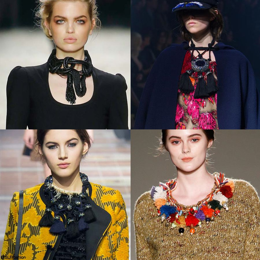 trendy jewelry style for fw 2015: statement fringed necklace. tom
