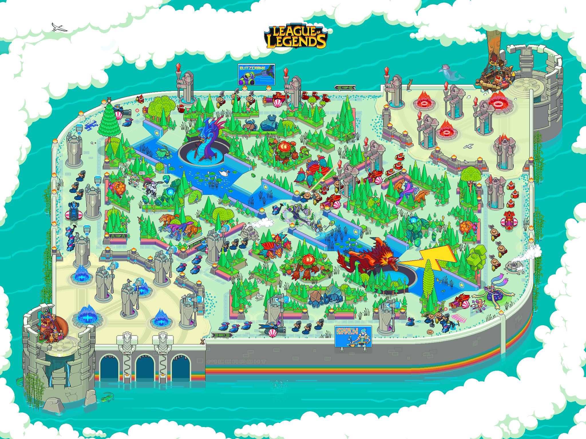 League of Legends pixel art map illustration | Pixel art | Pinterest ...