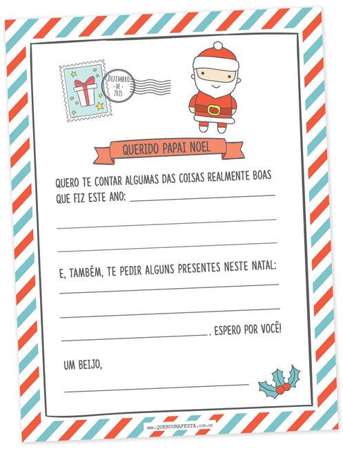 Carta Papai Noel Arquivo Gratis Carta Papai Noel Carta Para O Papai Carta Para Papai Noel
