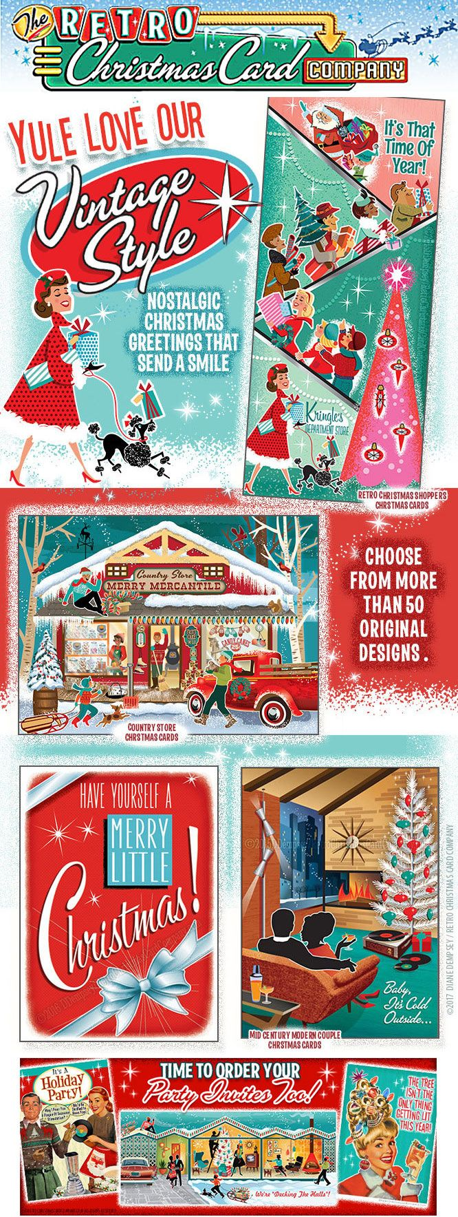 the retro christmas card company our collection of