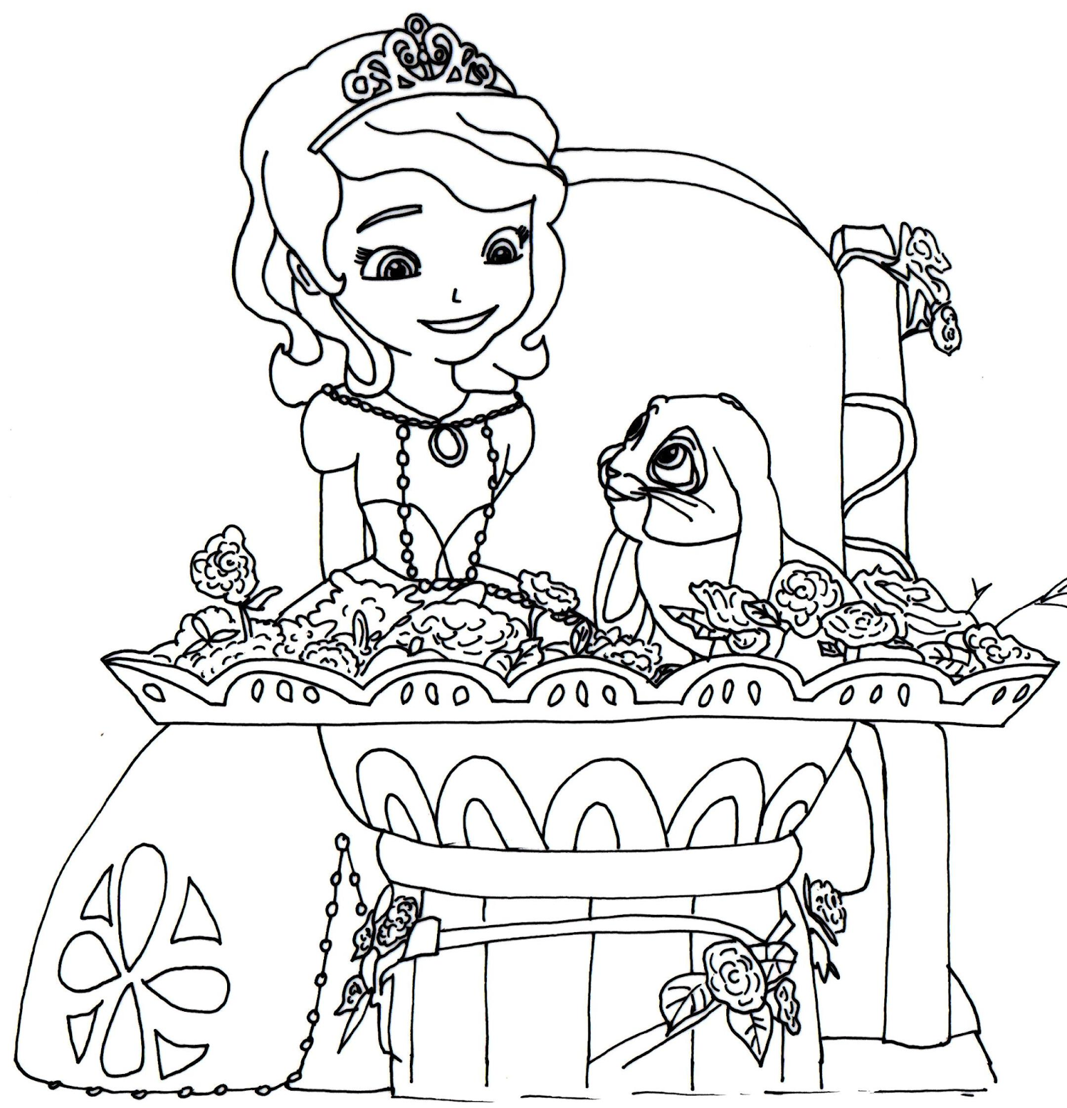 princess sofia coloring page - Google-søgning | Coloring Pages ...
