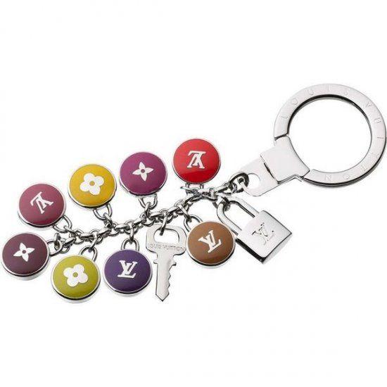 Women Louis Vuitton Pastilles Key Ring Multicolour M65720
