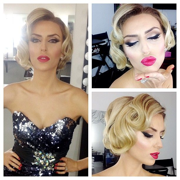 #oldhollywood #beauty #era #foundation #airbrush #blush #smashbox #contour #highlight #mac #eyeshadow #smashbox #urbandecay #styledbyhrush #hair #updo #blonde #glamorous #vintage #eyes #lips #makeup #mua - @styledbyhrush