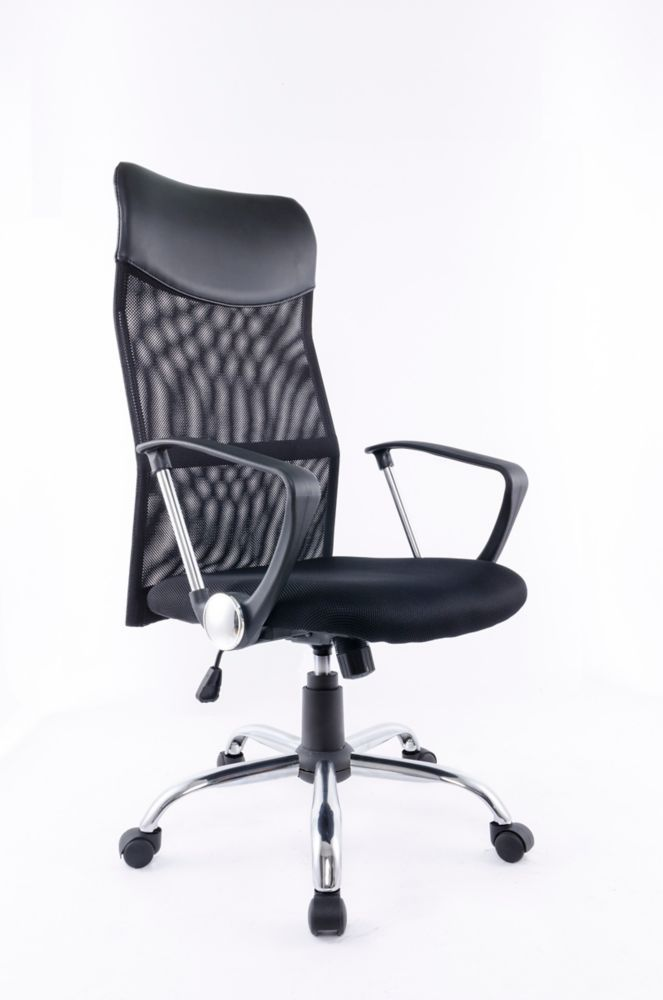 Office Chair With Gas Lift And Tilt Mechanism Black Office