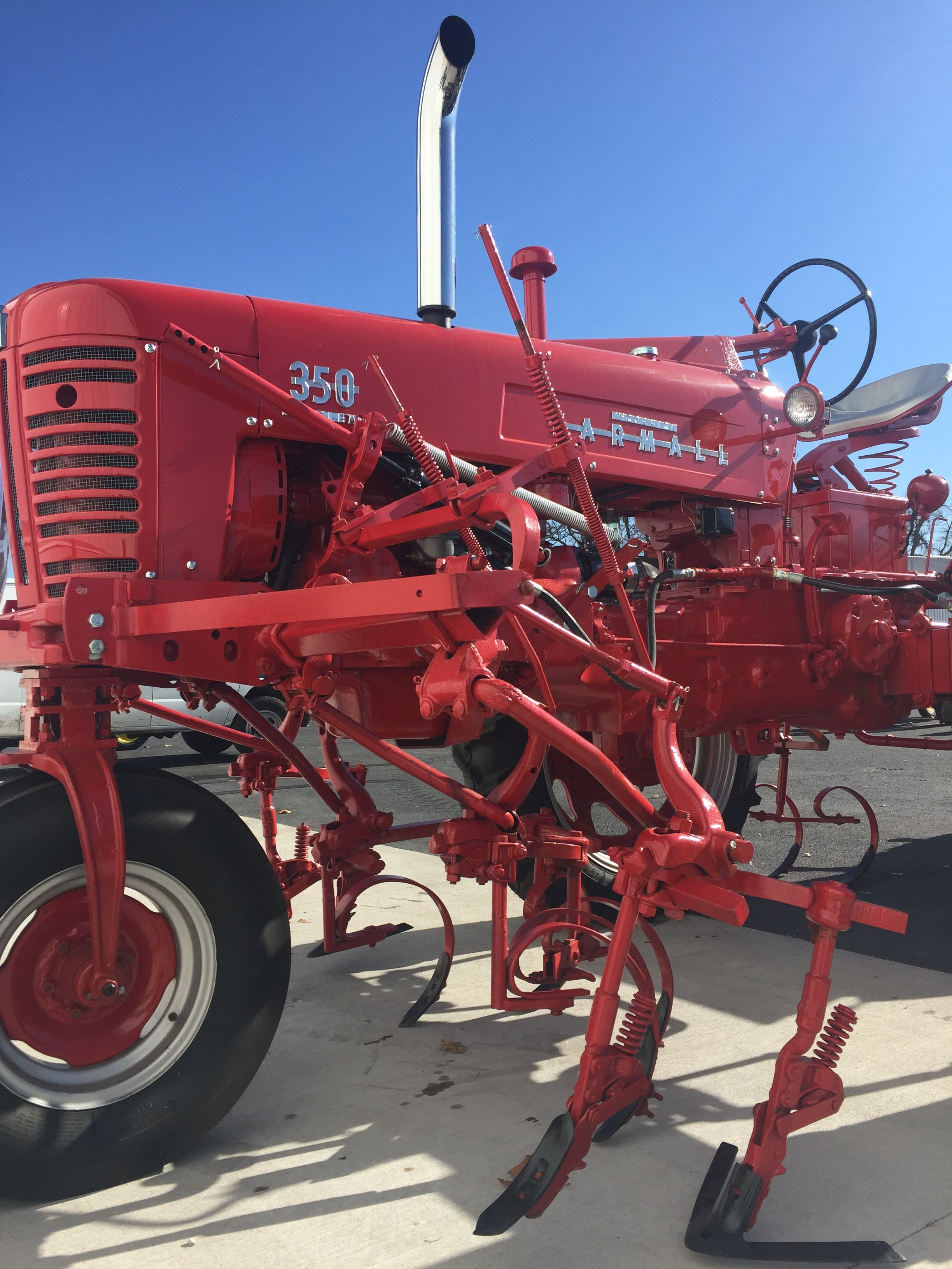 farmall 350 with cultivator tractor pictures tractor attachments red tractor farmall tractors [ 2448 x 3264 Pixel ]