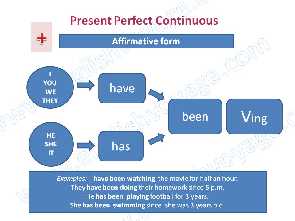 Present perfect схемы