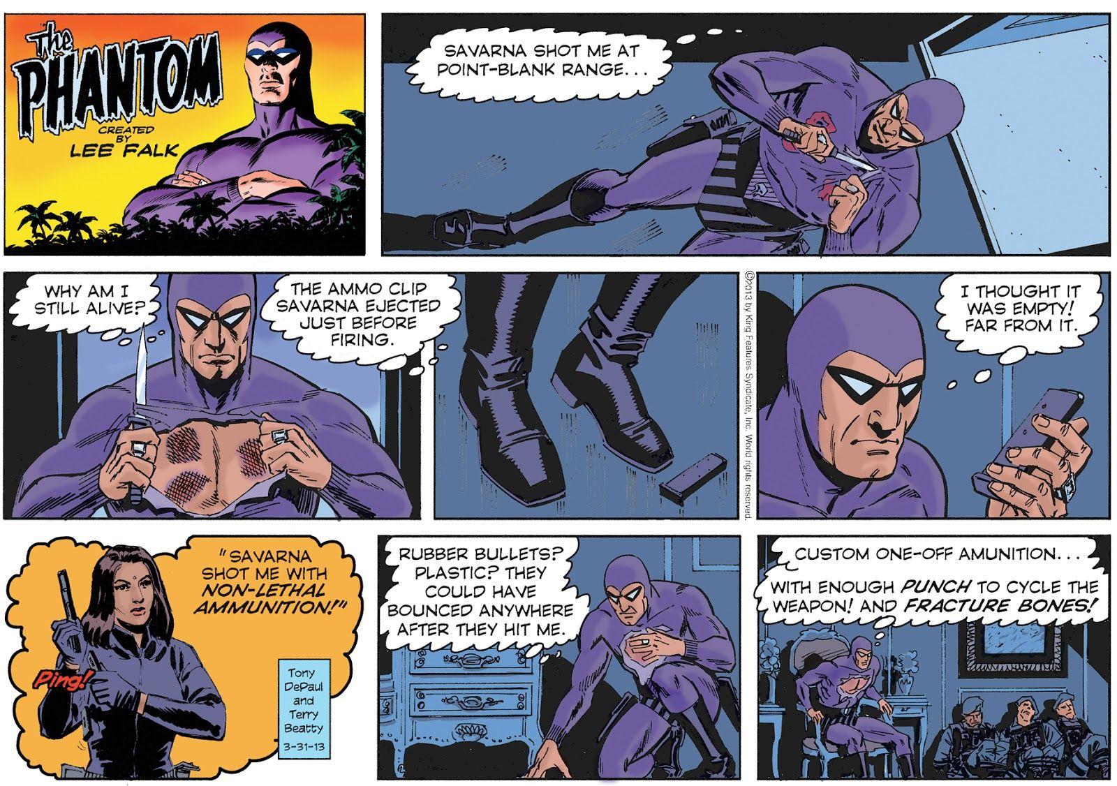 Comic phantom strip