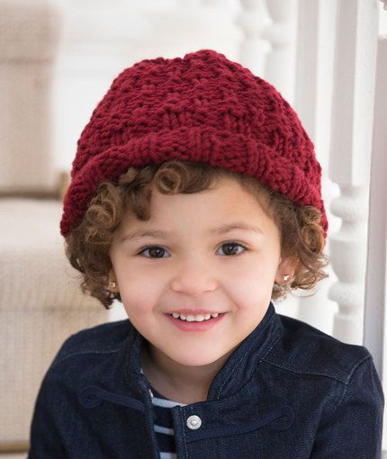 Child s Rolled Brim Hat Knitting Pattern  4d6bc4dd477