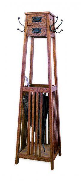 Mission Style Coat Rack Brown 60 Quot H X 16 Quot W X 16 Quot D By