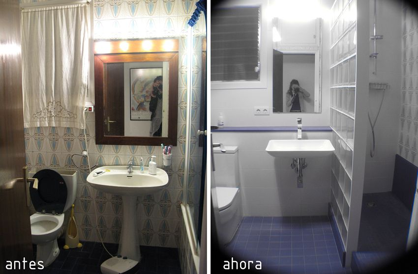 Reforma ba o antes y despues antes despues pinterest for Reformar piso entero