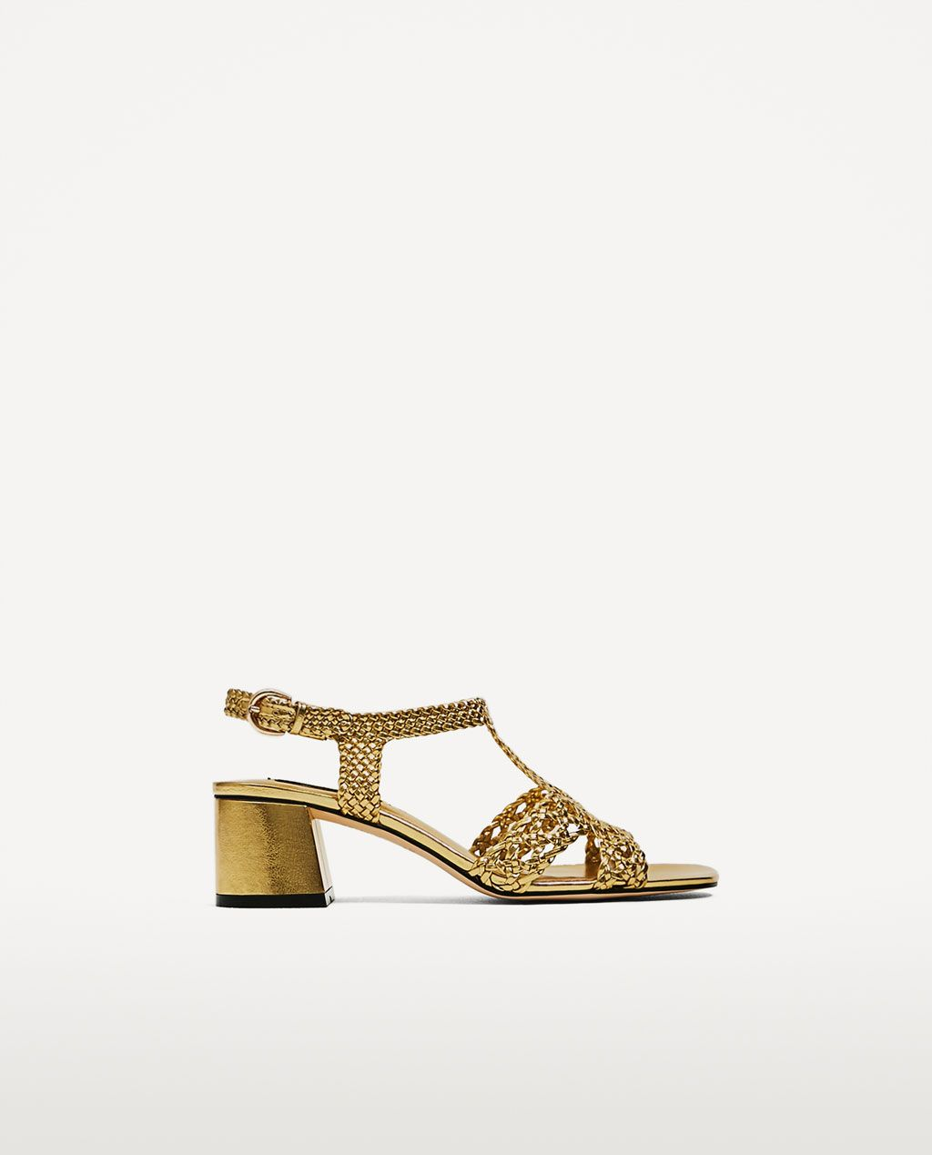 6b192aae042 Image 2 of GOLDEN BRAIDED HIGH HEEL SANDALS from Zara | sp / summer ...