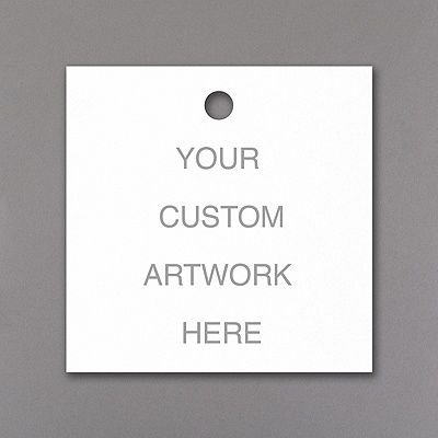 YOU get to be the designer for these custom favor tags! We'll print your artwork, design or wording on the medium, square favor tags. Then add them to favors, gifts and more for unique style!